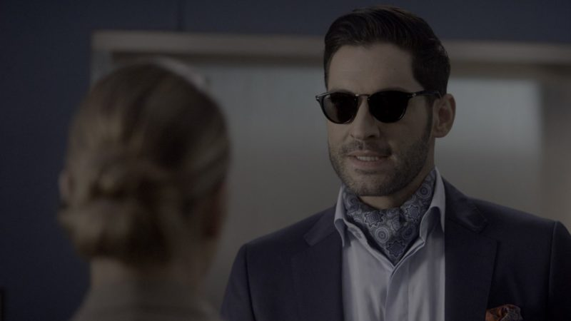 Persol Sunglasses Worn by Tom Ellis in Lucifer - Season 4, Episode 9, Save Lucifer (2019) - TV Show Product Placement