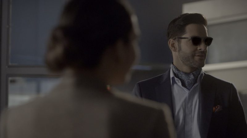 Persol Sunglasses Worn by Tom Ellis in Lucifer - Season 4, Episode 9, Save Lucifer (2019) TV Show Product Placement