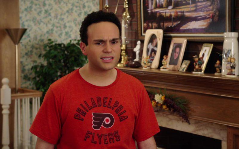Philadelphia Flyers Ice Hockey Team T-Shirt Worn by Troy Gentile in The Goldbergs (1)