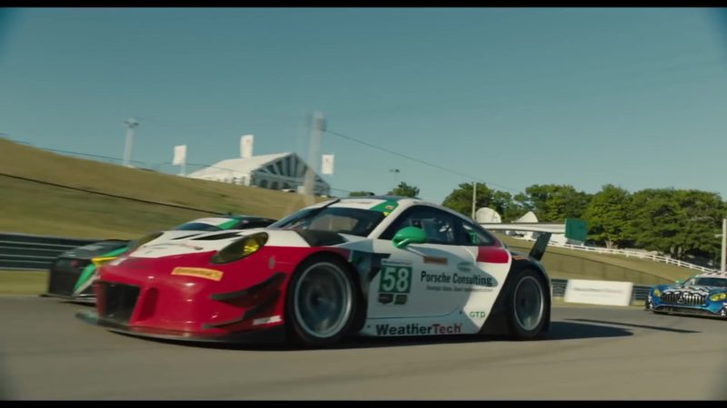 Porsche Sports Car Driven by Milo Ventimiglia in The Art of Racing in the Rain (2019) Movie Product Placement