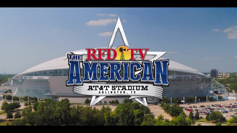 RFD-TV The American x AT&T Stadium in Walk. Ride. Rodeo. (2019) - Movie Product Placement