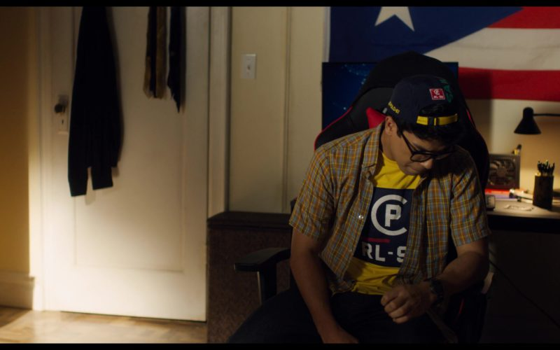 Ralph Lauren T-Shirt and Cap Worn by Johnathan Nieves in See You Yesterday (1)