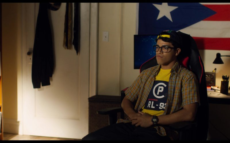 Ralph Lauren Yellow Tee Worn by Johnathan Nieves in See You Yesterday (1)