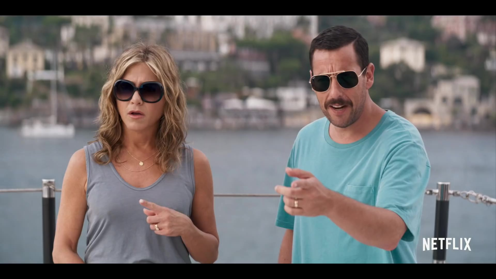 Ray-Ban Aviator Sunglasses Worn by Adam Sandler in Murder