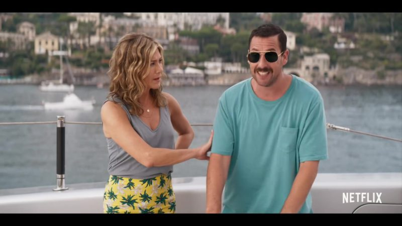Ray-Ban Aviator Sunglasses Worn by Adam Sandler in Murder Mystery (2019) Movie Product Placement