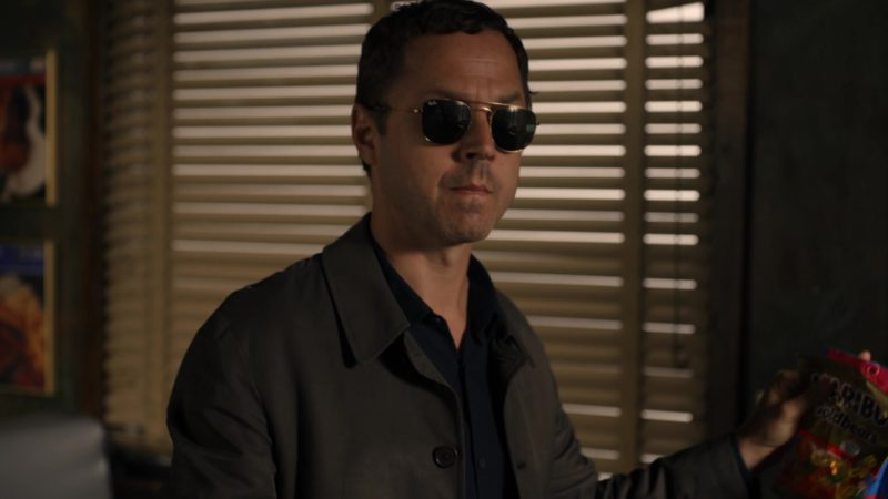 Ray-Ban Aviator Sunglasses Worn by Giovanni Ribisi and Haribo Candies in Sneaky Pete - Season 3, Episode 7 (2019) TV Show Product Placement