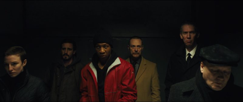 Reebok Jacket (Red) Worn by Jonathan Majors in Captive State (2019) - Movie Product Placement