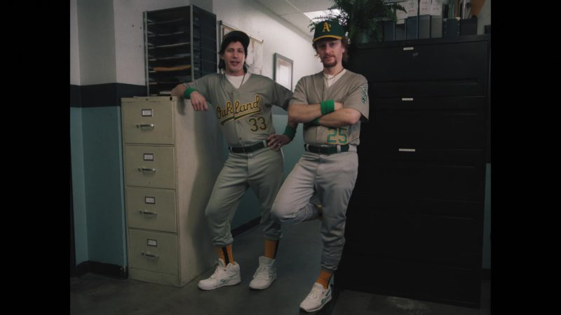 Reebok Sneakers Worn by Andy Samberg as Jose Canseco and Akiva Schaffer as Mark McGwire in The Unauthorized Bash Brothers Experience (2019) Movie Product Placement