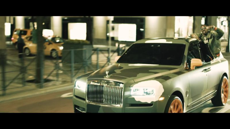 Rolls-Royce Cullinan Camouflage Wrap SUV in Crashin' Out by Young Dolph (2019) - Official Music Video Product Placement