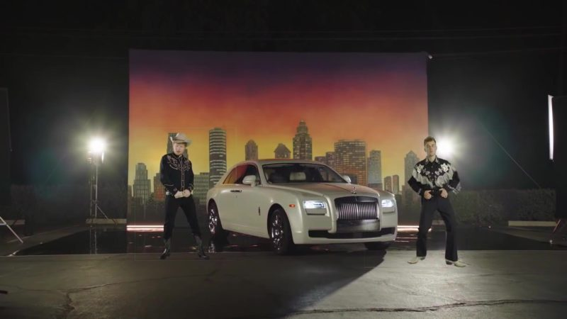 """Rolls-Royce White Car in """"I Don't Care"""" by Ed Sheeran & Justin Bieber (2019) Official Music Video Product Placement"""