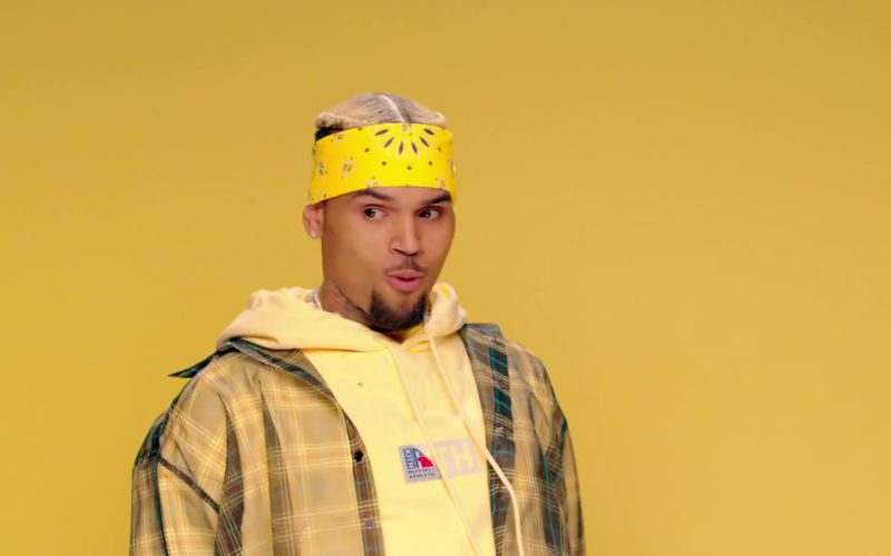 Russell Athletic x KITH Yellow Hoodie Worn by Chris Brown (5)