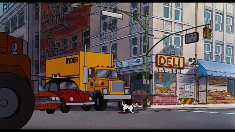 Ryder Truck Rental in Oliver & Company (1988) - Animation Movie Product Placement