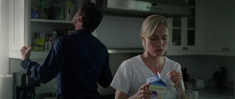 Silk Milk Held by Radha Mitchell in Olympus Has Fallen (2013) Movie Product Placement