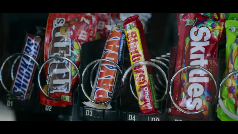 Snickers Candy Bar, PayDay by The Hershey Company, Starburst and Skittles Candies in Chambers - Season 1, Episode 3, Bad Inside (2019) - TV Show Product Placement