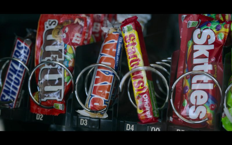 Snickers Candy Bar, PayDay Bar, Starburst and Skittles Candies in Chambers