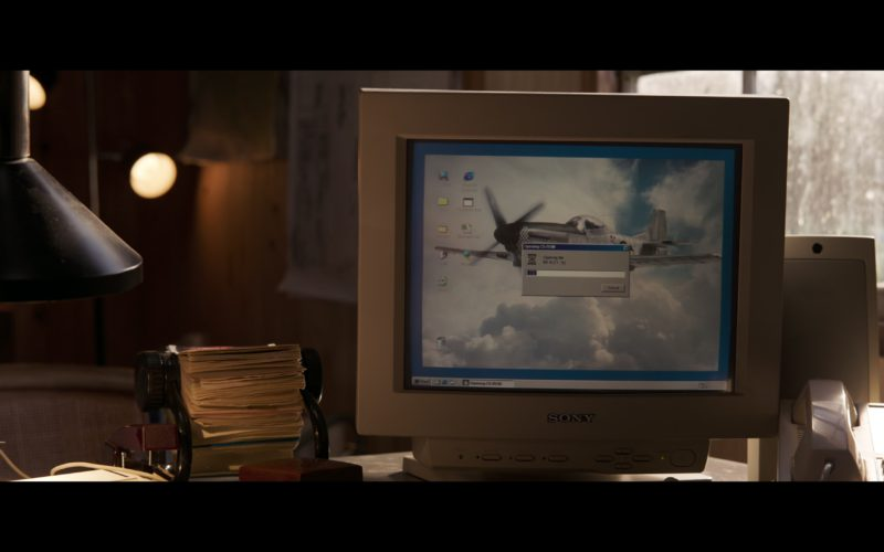 Sony Computer Monitor in Captain Marvel