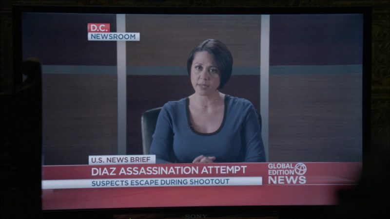 Sony TV in The Blacklist - Season 6, Episode 22, Robert Diaz (2019) - TV Show Product Placement