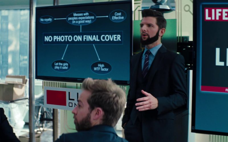 Sony TVs and LIFE Magazine in The Secret Life of Walter Mitty
