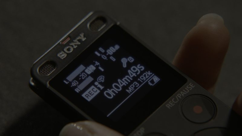 Sony Voice Recorder Used by Renée Zellweger in What/If - Season 1, Episode 1, Pilot (2019) - TV Show Product Placement