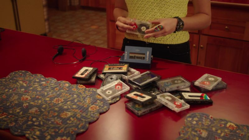 Sony Walkman Portable Cassette Player Used by Hayley Orrantia in The Goldbergs - Season 6, Episode 23, Breakin' (2019) TV Show Product Placement