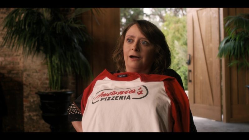 Sport-Tek Long Sleeve Tee Held by Rachel Dratch in Wine Country (2019) - Movie Product Placement