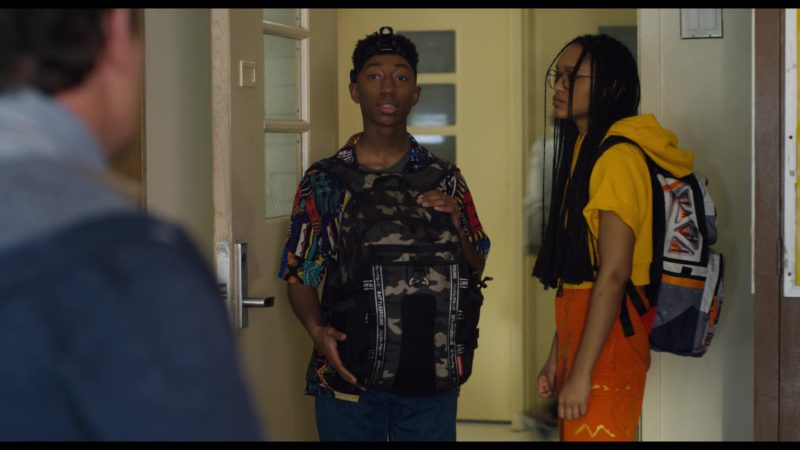 Sprayground Camo Army Backpack Used by Dante Crichlow in See You Yesterday (2019) - Movie Product Placement