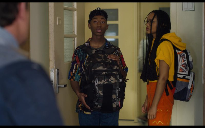 Sprayground Camo Army Backpack Used by Dante Crichlow in See You Yesterday (1)
