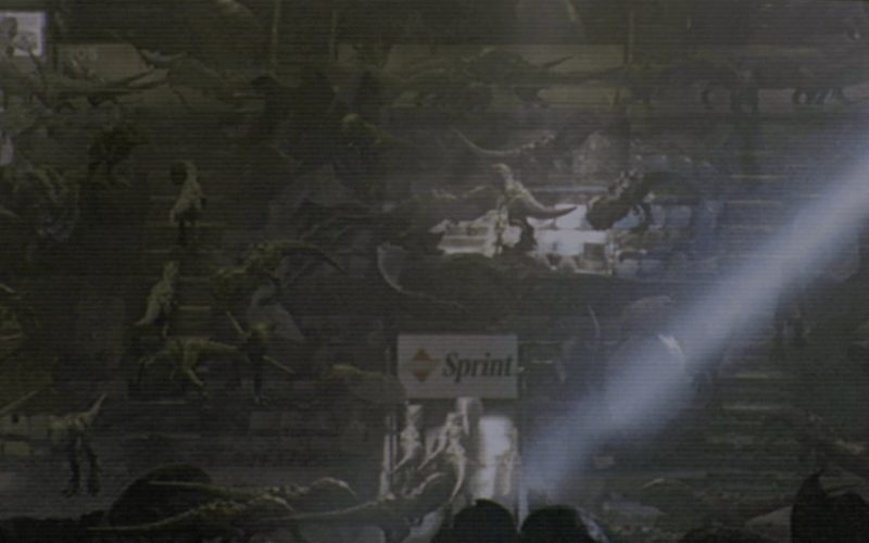 Sprint Telecommunications Sign in Godzilla (1)