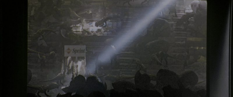Sprint Telecommunications Sign in Godzilla (1998) - Movie Product Placement