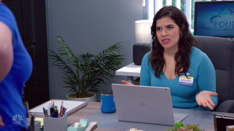 Surface Laptop Used by America Ferrera in Superstore - Season 4, Episode 19, Scanners (2019) - TV Show Product Placement
