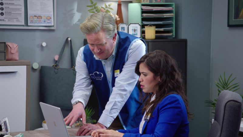 Surface Notebook by Microsoft Used by America Ferrera in Superstore - Season 4, Episode 18, Cloud Green (2019) - TV Show Product Placement