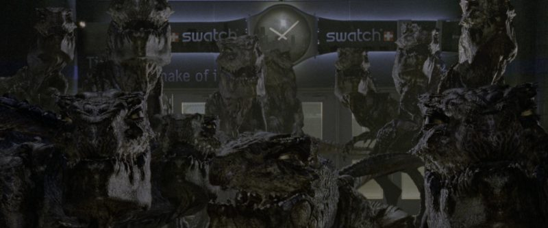Swatch Watches Billboard in Godzilla (1998) - Movie Product Placement