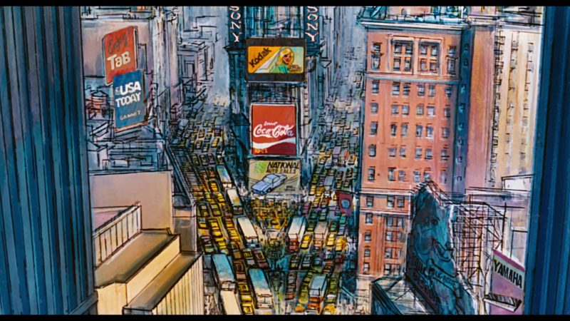 TAB, USA Today, Sony, Kodak, Coca-Cola, Yamaha in Oliver & Company (1988) Animation Movie Product Placement
