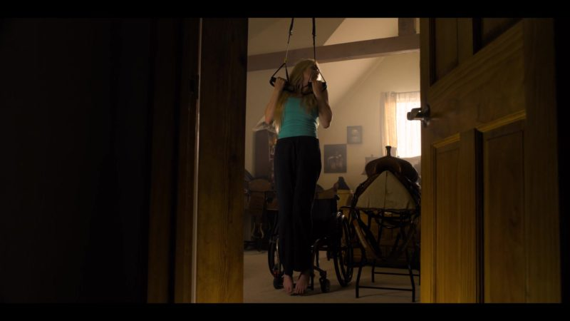 TRX Suspension Training System Used by Spencer Locke in Walk. Ride. Rodeo. (2019) - Movie Product Placement