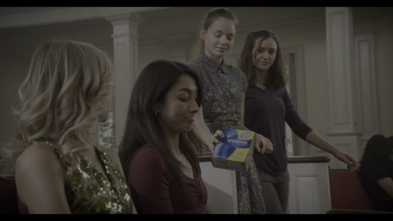 Tampax in The Society - Season 1, Episode 3, Childhood's End (2019) - TV Show Product Placement