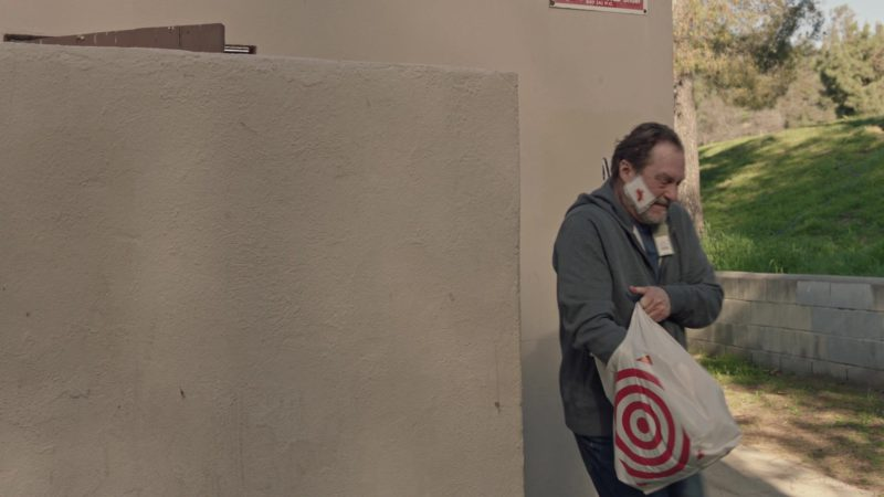 Target Plastic Bag Held by Stephen Root in Barry - Season 2, Episode 6, The Truth Has a Ring to It (2019) - TV Show Product Placement
