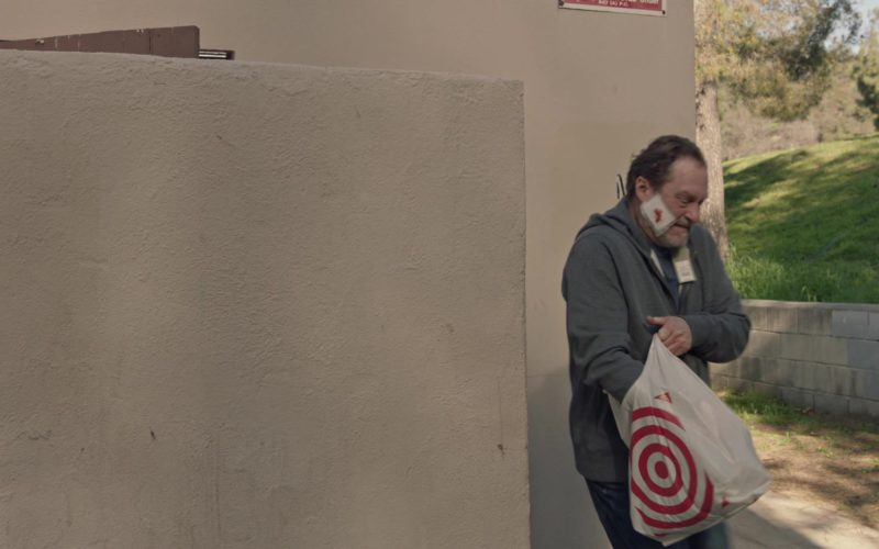 Target Plastic Bag Held by Stephen Root in Barry