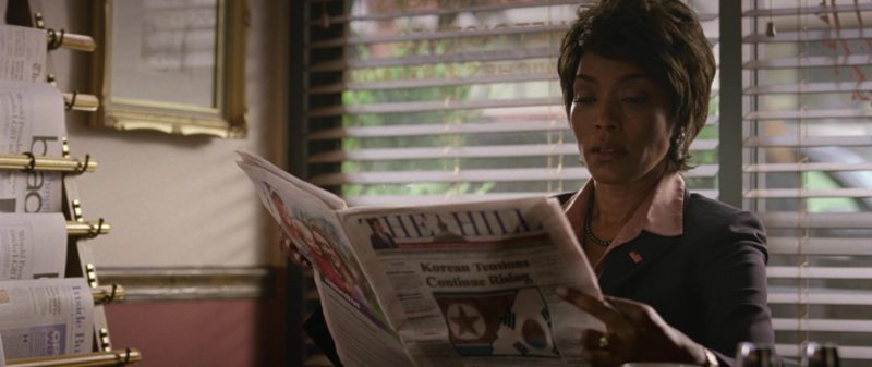 The Hill Newspaper Held by Angela Bassett in Olympus Has Fallen (2013) - Movie Product Placement