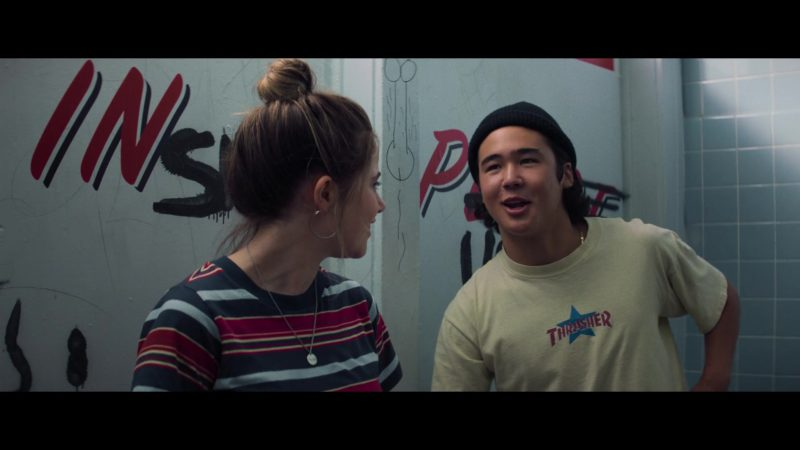 Thrasher T-Shirt Worn by Nico Hiraga in Booksmart (2019) - Movie Product Placement