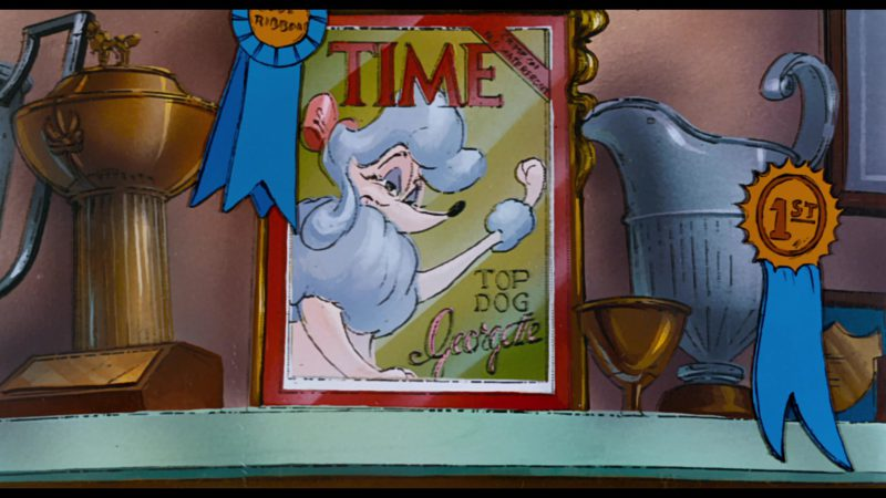 Time Magazine Cover in Oliver & Company (1988) - Animation Movie Product Placement
