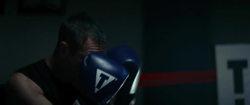 Title Blue Boxing Gloves Worn by Aaron Eckhart in Olympus Has Fallen (2013) - Movie Product Placement