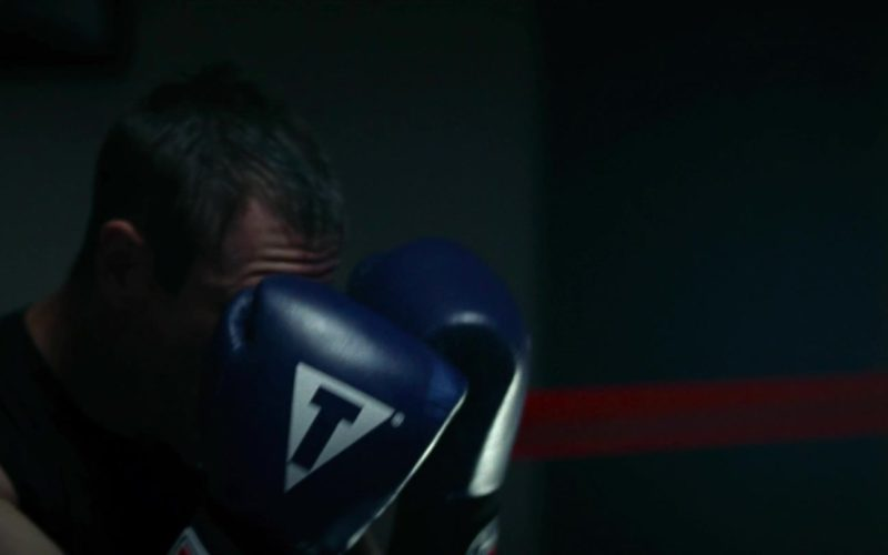Title Blue Boxing Gloves Worn by Aaron Eckhart in Olympus Has Fallen