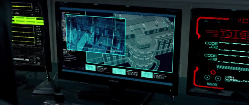 Toshiba Monitors in Olympus Has Fallen (2013) - Movie Product Placement
