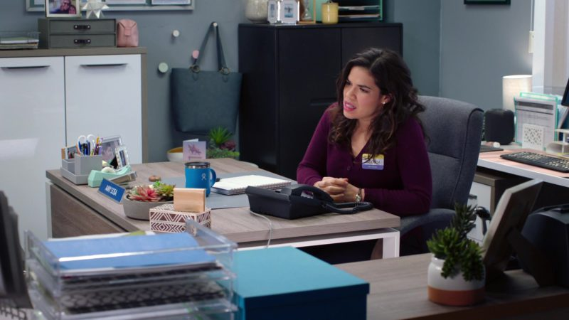 Toshiba Phone Used by America Ferrera in Superstore - Season 4, Episode 20, Cloud9Fail (2019) TV Show Product Placement