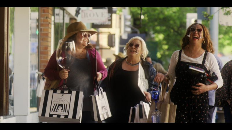 Toss Designs Store Paper Bags in Wine Country (2019) - Movie Product Placement