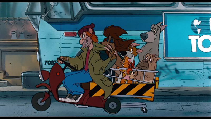 USA Today in Oliver & Company (1988) - Animation Movie Product Placement