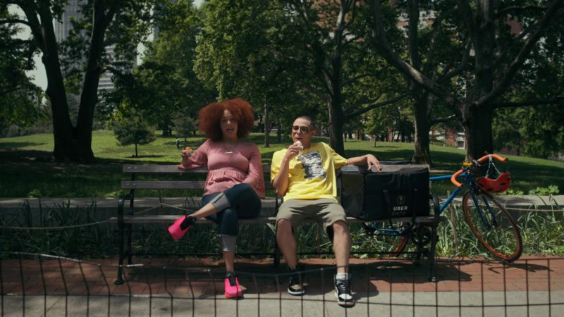 Uber Eats and Nike Women's Pink Sneakers in She's Gotta Have It - Season 2, Episode 3, #LuvStings (2019) - TV Show Product Placement