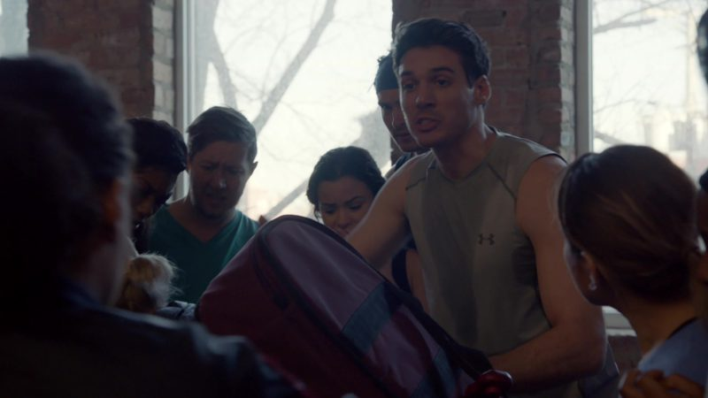 Under Armour Men's T-Shirt Worn by Actor in Chicago Fire - Season 7, Episode 20, Try Like Hell (2019) TV Show Product Placement