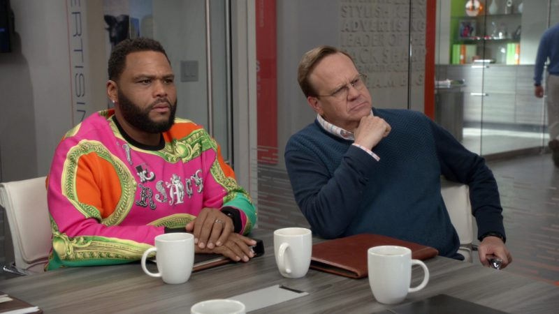 Versace Sweatshirt Worn by Anthony Anderson in Black-ish - Season 5, Episode 23, Relatively Grown Man (2019) TV Show Product Placement