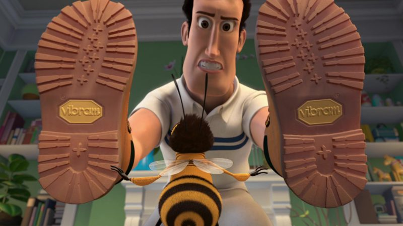 Vibram Boots in Bee Movie (2007) - Animation Movie Product Placement